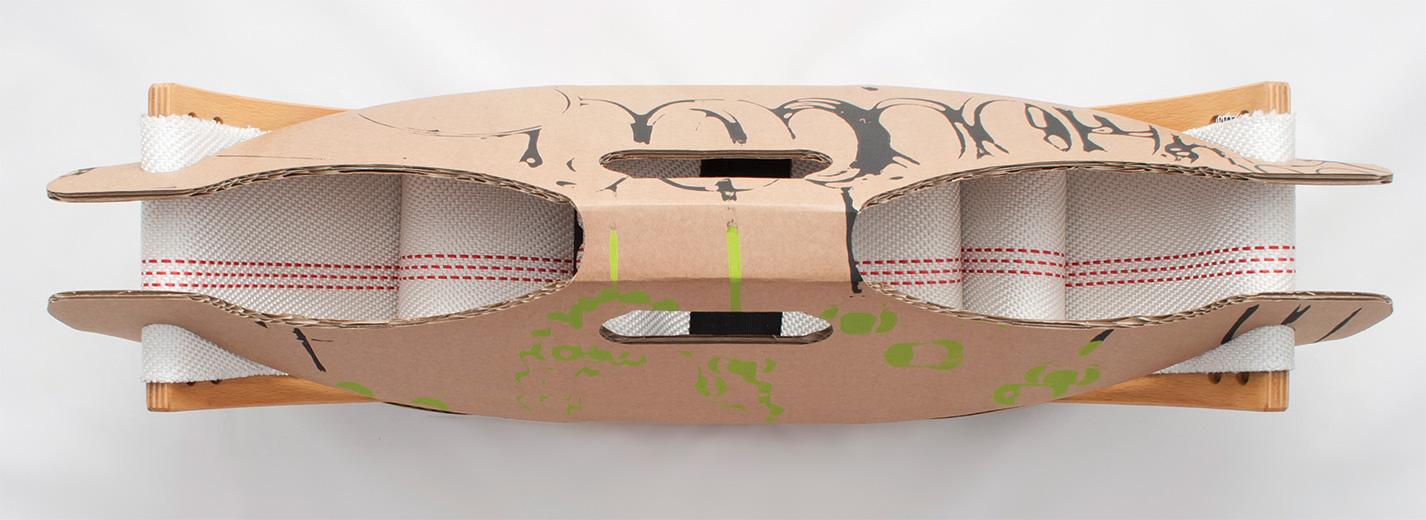 Schaukelverpackung Aufschwung | gabarage upcycling design