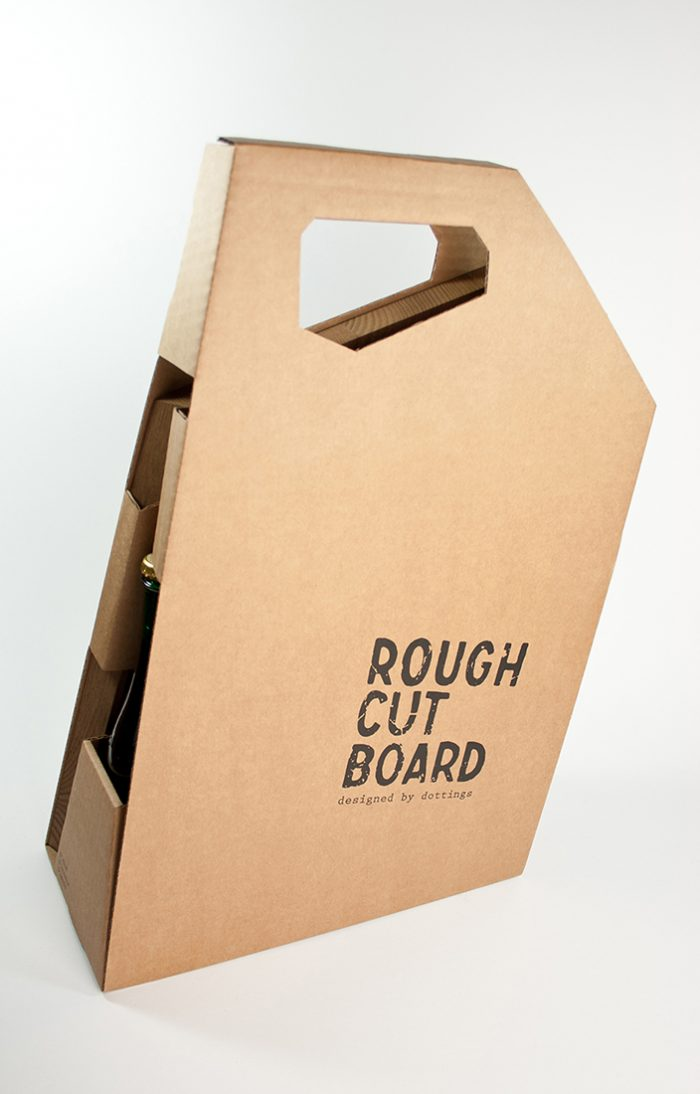 Roughcutboard Wellpappe Picknick Box
