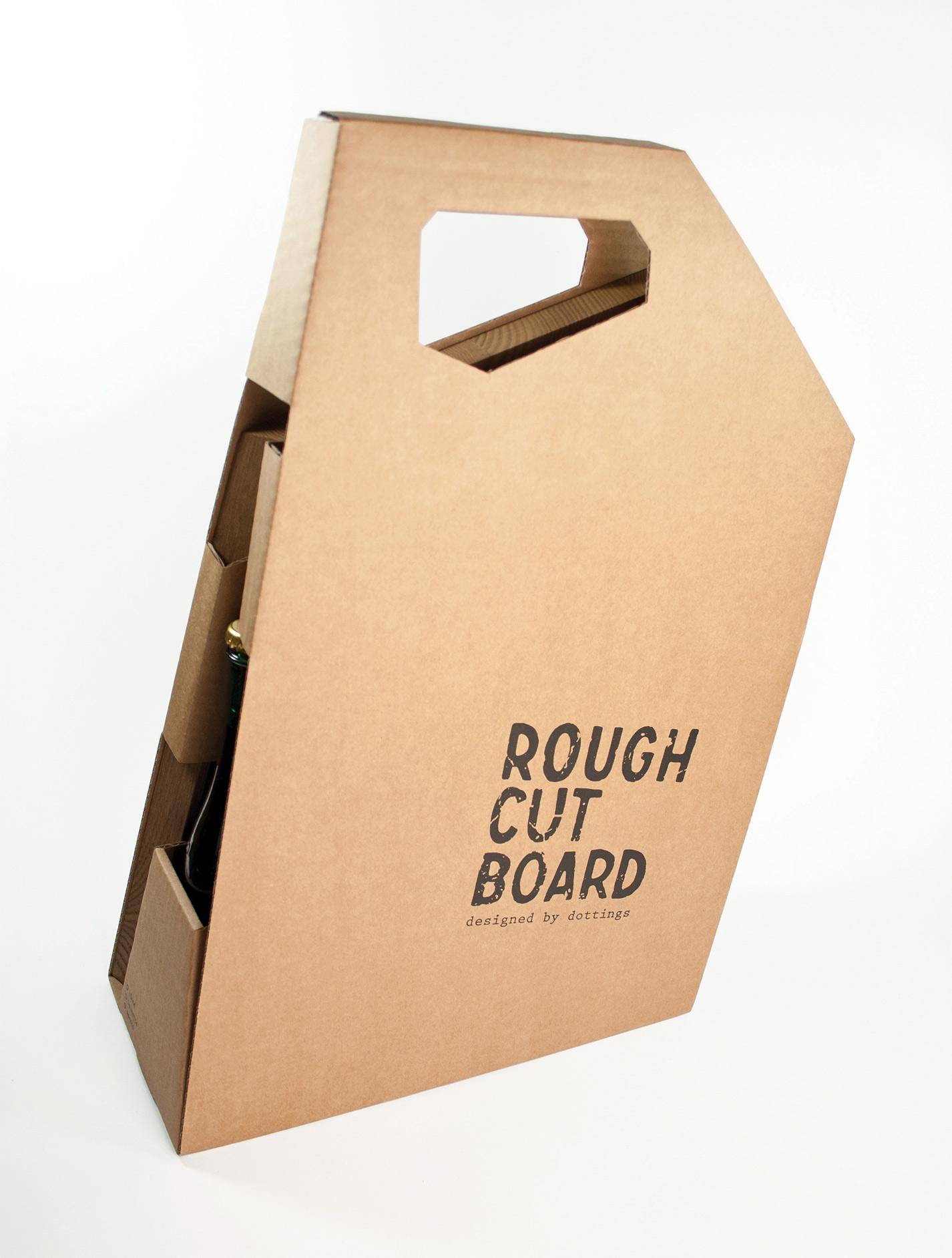 roughcutboard tragbare Picknick Wellpappe Box
