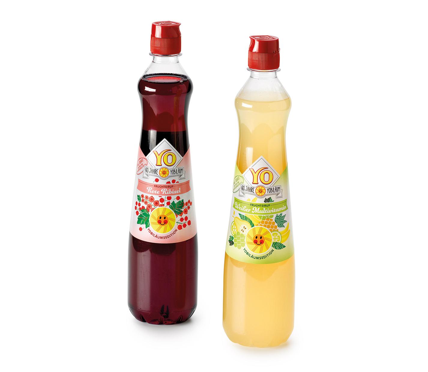 YO Fruchtsirup Etiketten