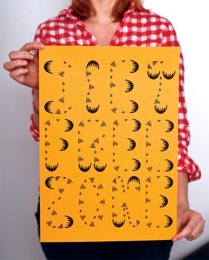 Garfield Typografie Experiment