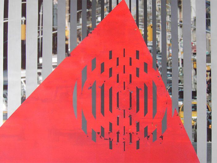Plakatuebermalung New York Poster Art mein Boden