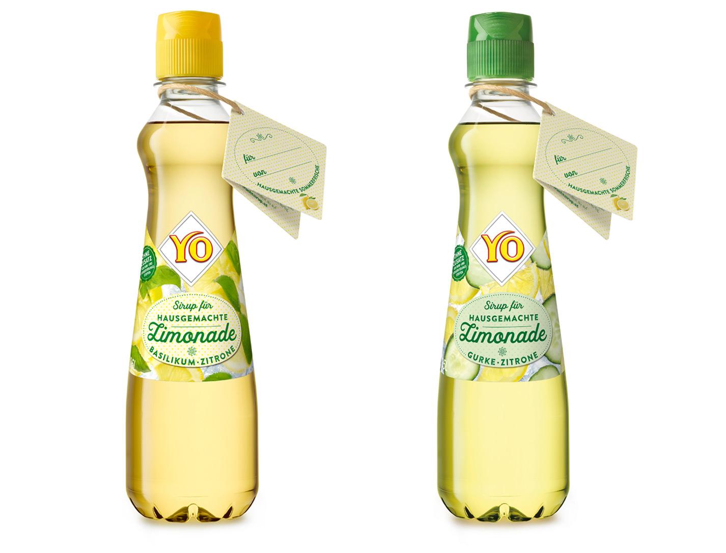 YO Sirup für hausgemachte Limonade mit Geschenkkärtchen